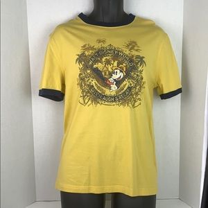 Disney Parks Mickey Live Laugh Relax Ringer Shirt